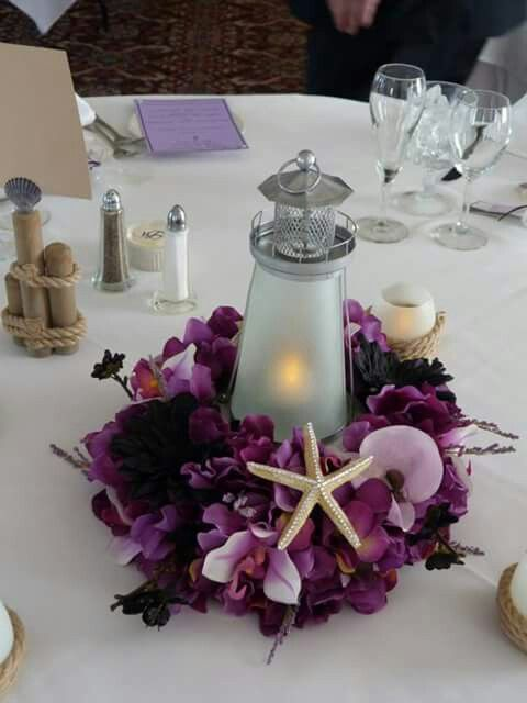 Lighthouse Centerpieces  My Wedding  Beach wedding