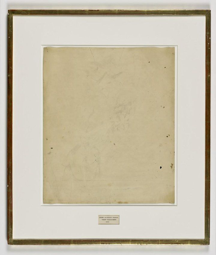 Robert Rauschenberg // Erased de Kooning Drawing (1953) [SFMOMA]