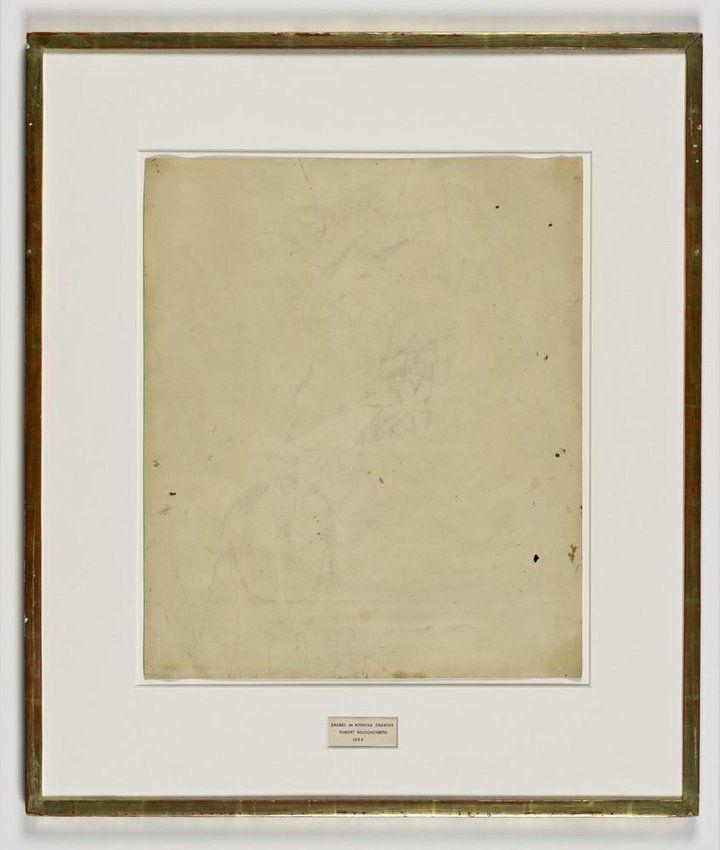 Erased de Kooning by Robert Rauschenberg 1953