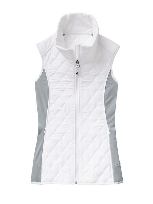 Upside Vest - Our Stretch Insul8 vest with mobility panels gives you freedom to move with just the right amount of warmth for active trail-to-town explorations.