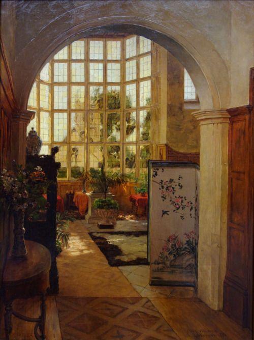 Stanway Interior, 1881, Walter Launt Palmer