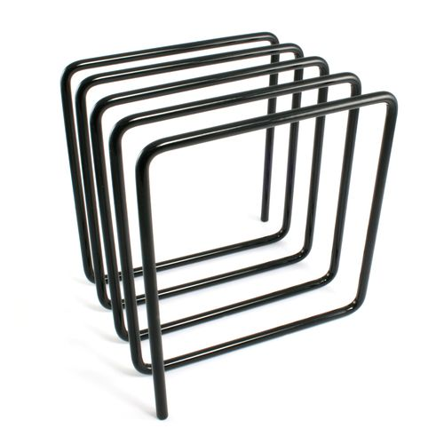 Block Design Magazine Rack: The contemporary Magazine Rack is made from one piece of metal looped into a cube, as with all classic designs it is amazingly simple. Most magazine racks need to be floor based, however our innovative design can sit neatly on your desk. The Blue Magazine Rack can hold up to 8 magazines, yet takes up very little space. Because of its size it make the perfect desktop magazine rack or great for keeping reference material or folders handy.