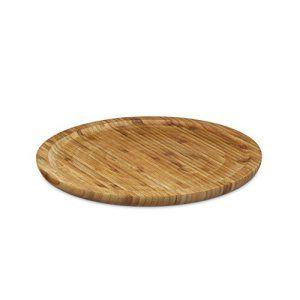 Relaxdays Assiette tournante en bambou plateau de fromage tournant en bois rond diamètre 33 cm plat de service apéritif charcuterie…