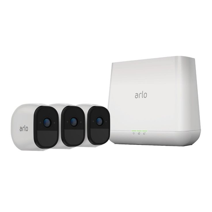 Arlo Pro 3 Rechargeable Wire-Free HD Security Camera with Audio and Siren - White (VMS4330-100NAS)