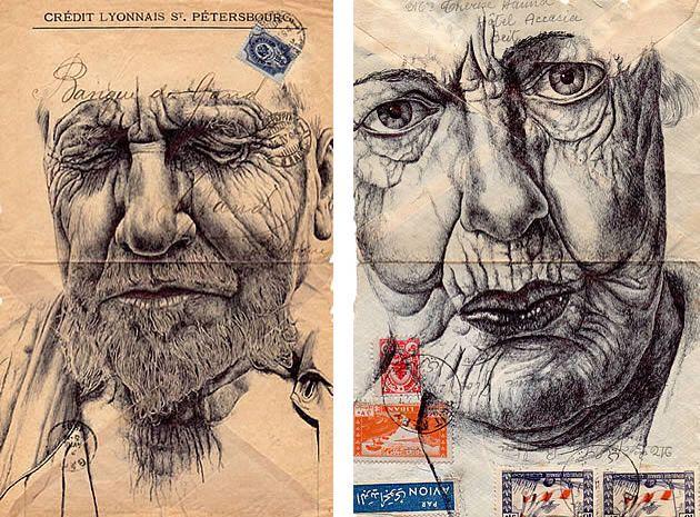 Mark Powell Biro Drawing.