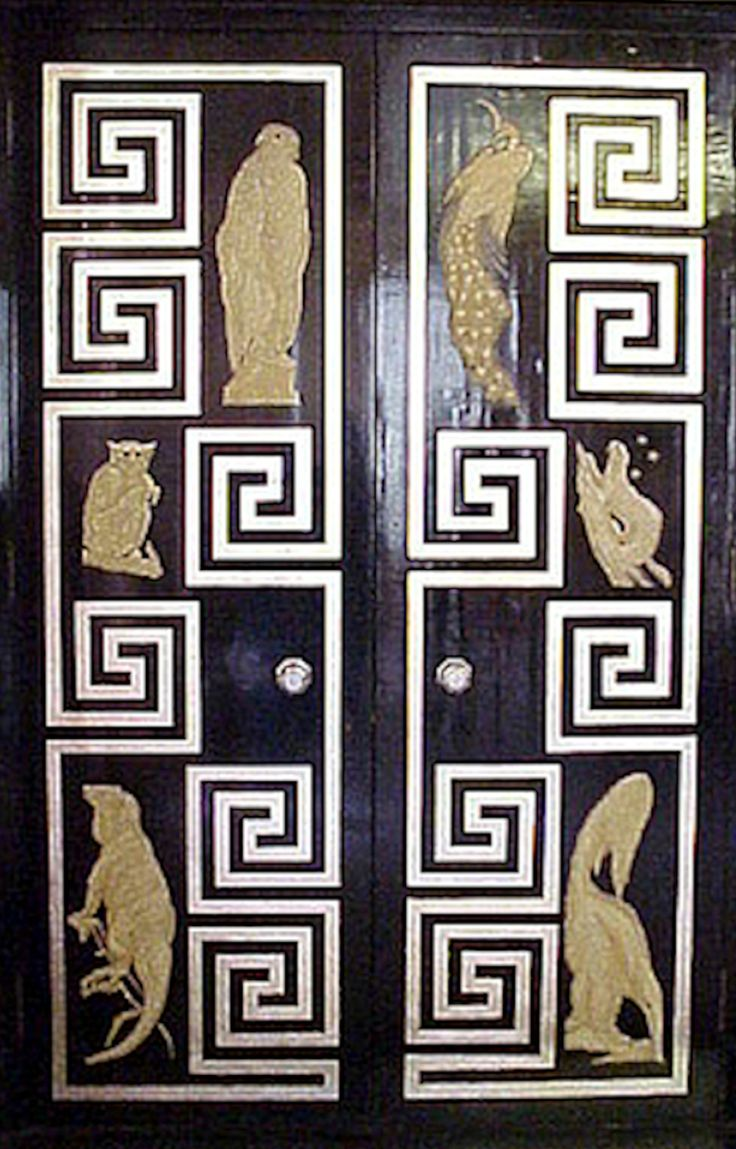 Art Deco Door Eltham Palace - 1936 - Architects: Seeley and Paget - Dining room doors decorated with loving coloured animals and birds - Eltham Palace and Gardens is available for Civil Wedding and Civil Partnership ceremonies - http://www.english-heritage.org.uk/book-and-buy/venue-hire/wedding/eltham-palace/