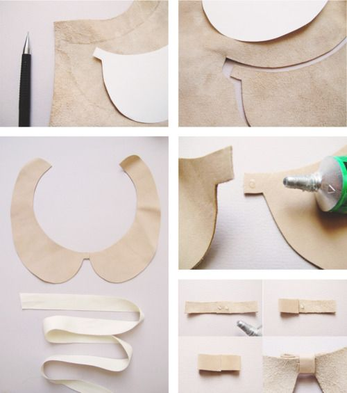 stunning leather collar diy from {Lucille}