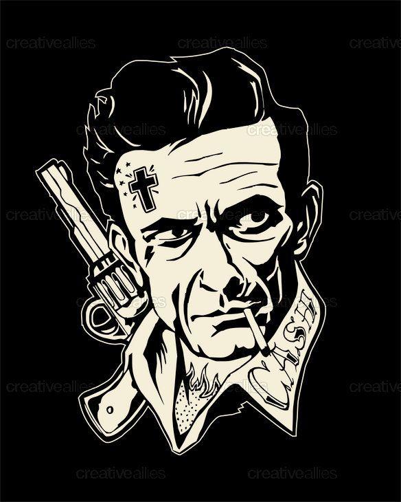 Tattoo Designs Johnny: Die Besten 25+ Johnny Cash Tattoo Ideen Auf Pinterest, Die