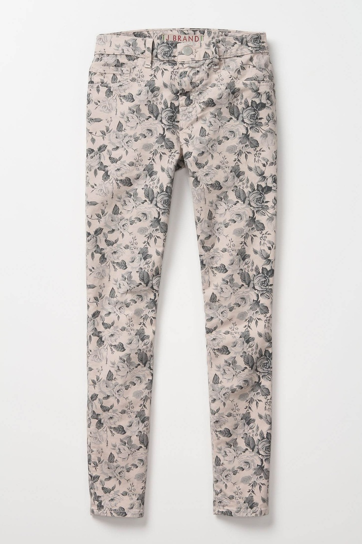J BRAND MINI FLORAL SKINNY PNAT FROM ANTHROPOLOGY