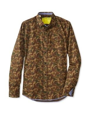 64% OFF Descendant of Thieves Men's Rusted Camo Shirt (Rusted Green Camo)