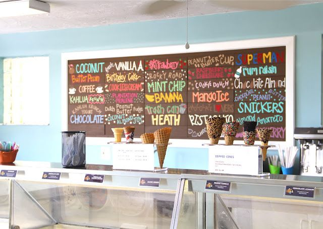 ice cream shop painting // shannon kirsten