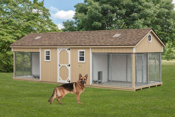 K 9 Police 4 Dog Custom Built Outdoor Kennel House W Run