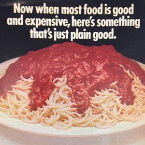 Ragu Spaghetti Sauce ad from Good Housekeeping, 1974. #tbt