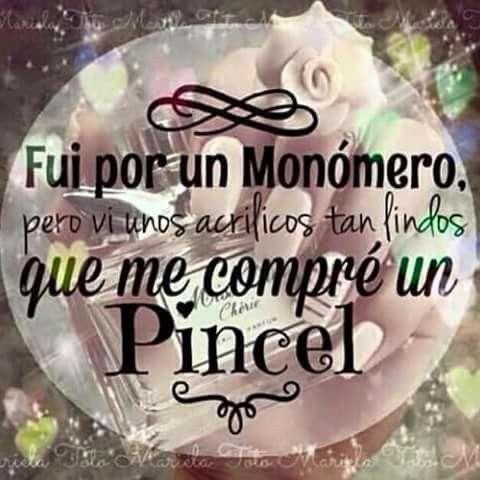 I love nails uñas monomero pincel acrilicos