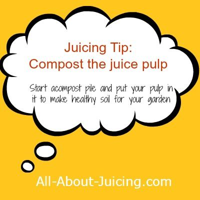 What do I do with the pulp?  -- Love the idea of using it for recipes AND compost for the garden!