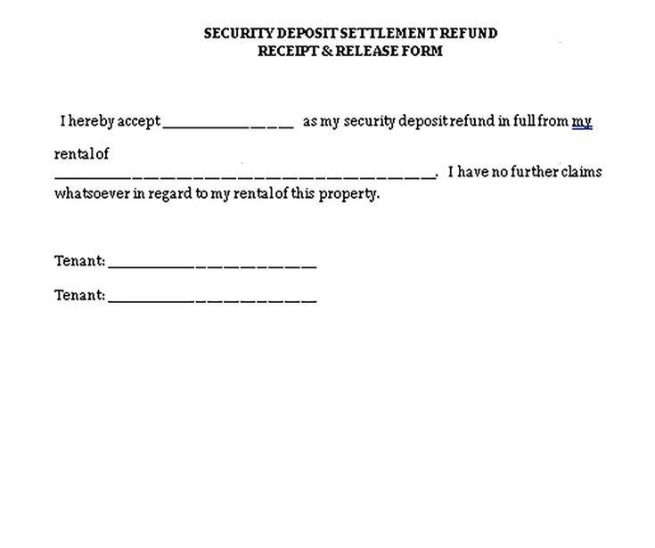 Sample Deposit Receipt