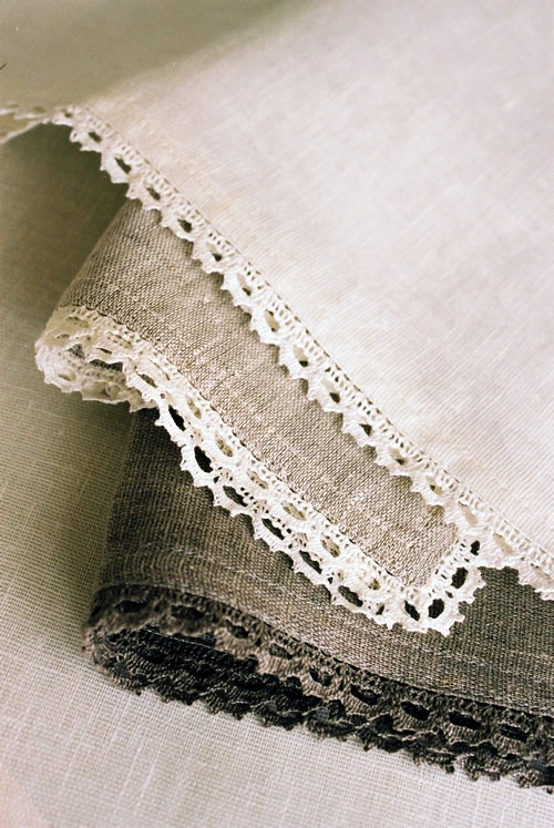 Linen - a really sustainable option. It's tough, natural and durable. It is initially more expensive than cotton but with have a longer life time. It is natural and comes from the flax plant and requires less processing than silk or synthetic fibres.