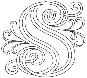 Letter Perfect - Letter S design (UTH7610) from UrbanThreads.com