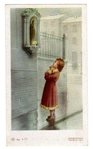 Wayside Shrine Italian Holy Card