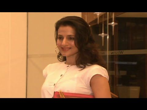 Ameesha Patel at the luxury comfort mattress launch.