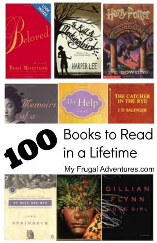 100 Books to Read in a Lifetime..I'm doing well. I have read all but about 20.