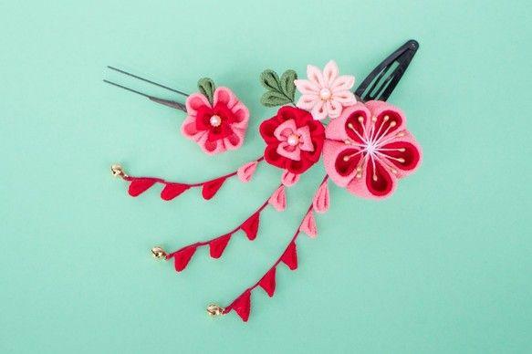 七五三 髪飾り 手作り 100均 作り方 Google 検索 つまみ細工 細工 ミニブーケ