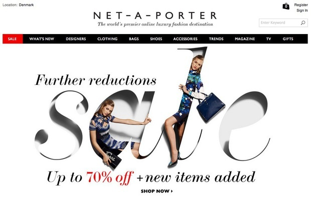 Webshopping . . sales around the web