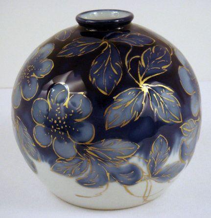 Art Deco Thauraud Limoges Vase, 1920's.