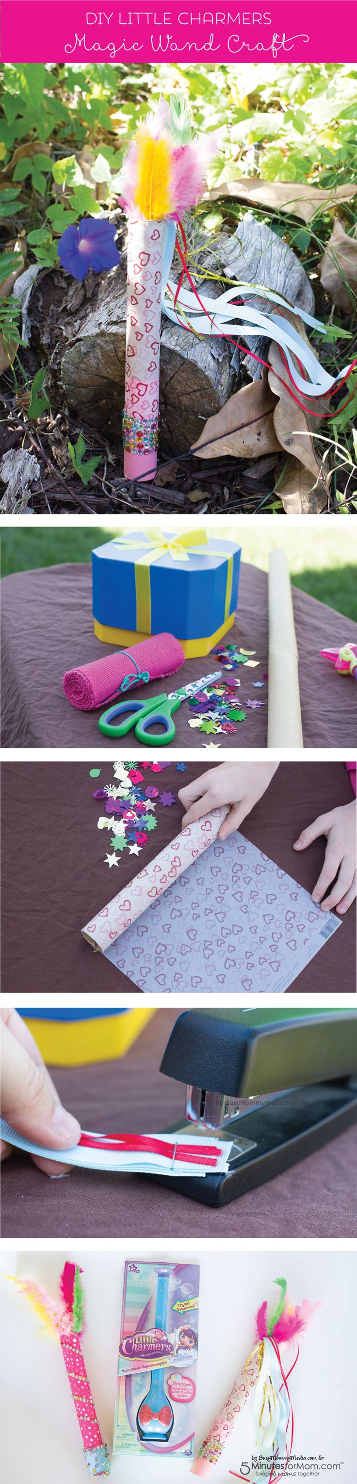 DIY Magic Wand Craft - Your little girls will love making these magic wands