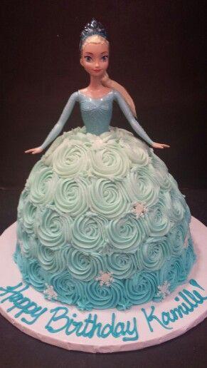 Rosette Elsa doll cake