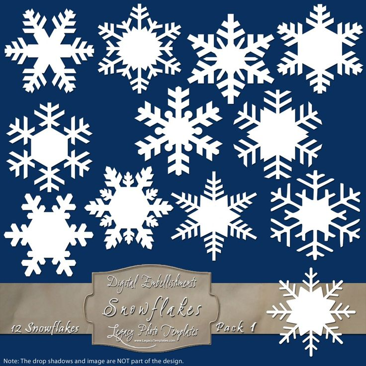 12 Frosty Snowflake Labels - Pack 1 $4.75 #snowflakes, #white, #labels, #winter, #embellishment, #scrapbooking