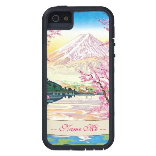 SOLD oriental japanese Fuji spring cherry tree mountain art iPhone 5 Case