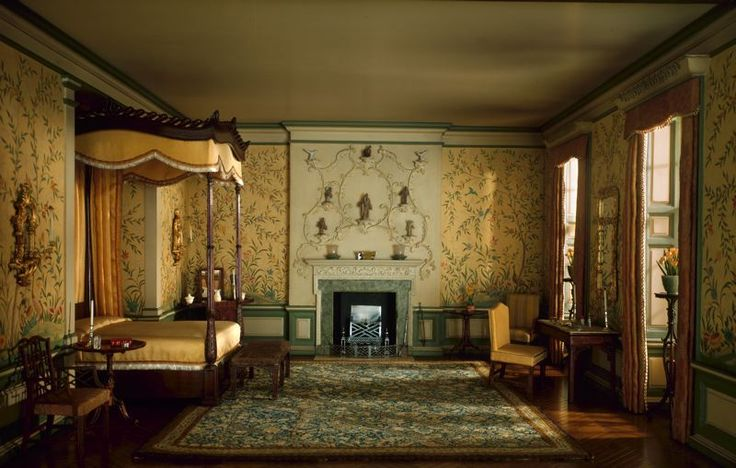 georgian bedrooms | English Bedroom of the Georgian Period, 1760-75 | Charlotte Interior ...