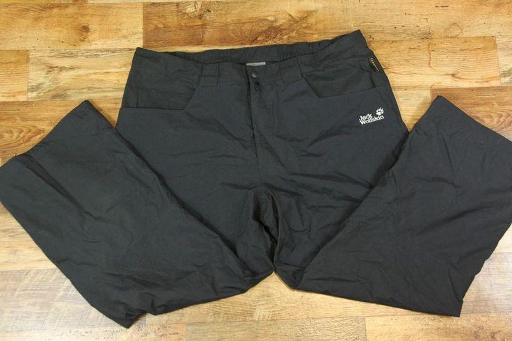 Men's JACK WOLFSKIN TEXAPORE Hiking Walking Trousers Pants Black 58 4XL W41 L28 #JackWolfskin #BaggyLoose