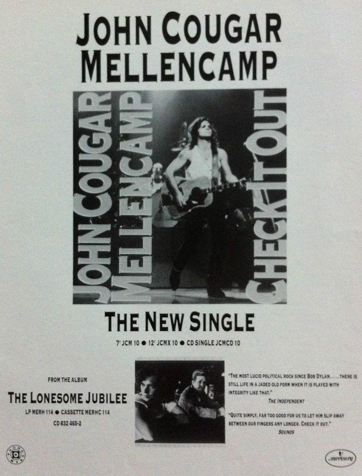 John Cougar Mellencamp Promotional Ad https://www.facebook.com/FromTheWaybackMachine/