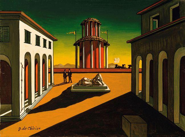 Giorgio de Chirico Piazza d'Italia ~ 1955   La pittura ...