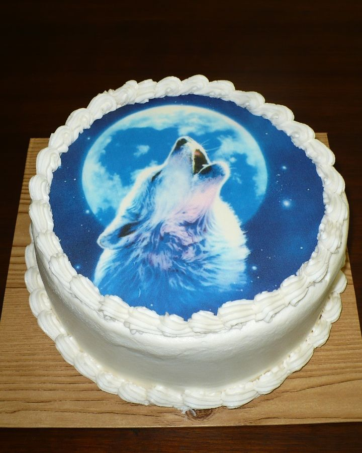 Pin Howling Wolf Cake By Oakleygirl77 Cakesdecorcom Decorating Cake on ...