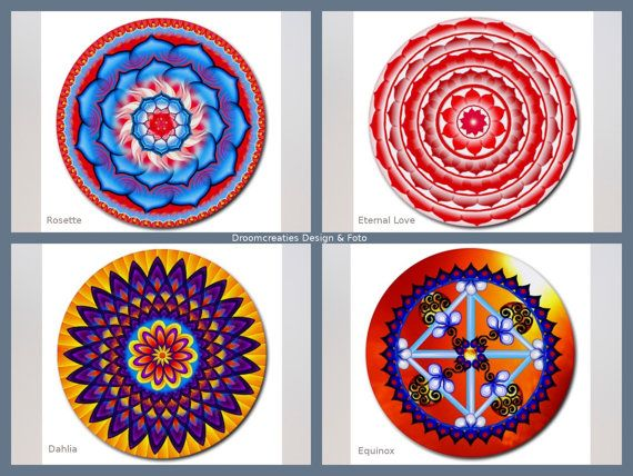 Mousepad mandala design- choose your favorite design: Rosette - Eternal Love - Dahlia - Equinox  This mousepad brings colour in your home,
