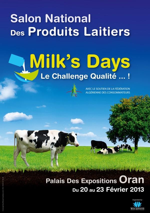 Poster Milk's Days by Salah Eddine LALAMI, via Behance