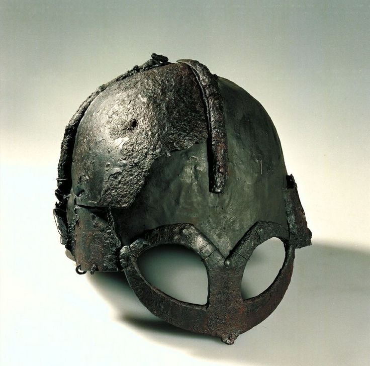 Viking's Helmet from Gjermundbu mound burial. It is the only known example of a complete Viking helmet in existence.