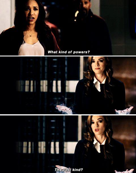 """What kind of powers?"" - Iris, Joe and Caitlin #TheFlash"