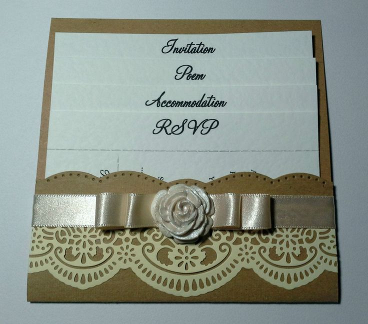 vintage shabby chic LACE & ROSE POCKET WALLET INVITATION WITH 4 INSERTS | eBay