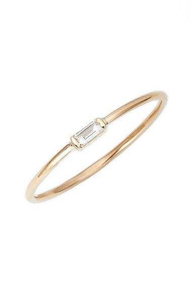Zoe Chicco Zoë Chicco Baguette Diamond Stacking Ring available at #Nordstrom. IN SIZE 7