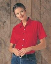 Tri-Mountain Women's Short Sleeve Twill Shirt. 801