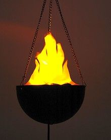 Mini Hanging Torch - awesome for around the outside of the house - i need a couple more!