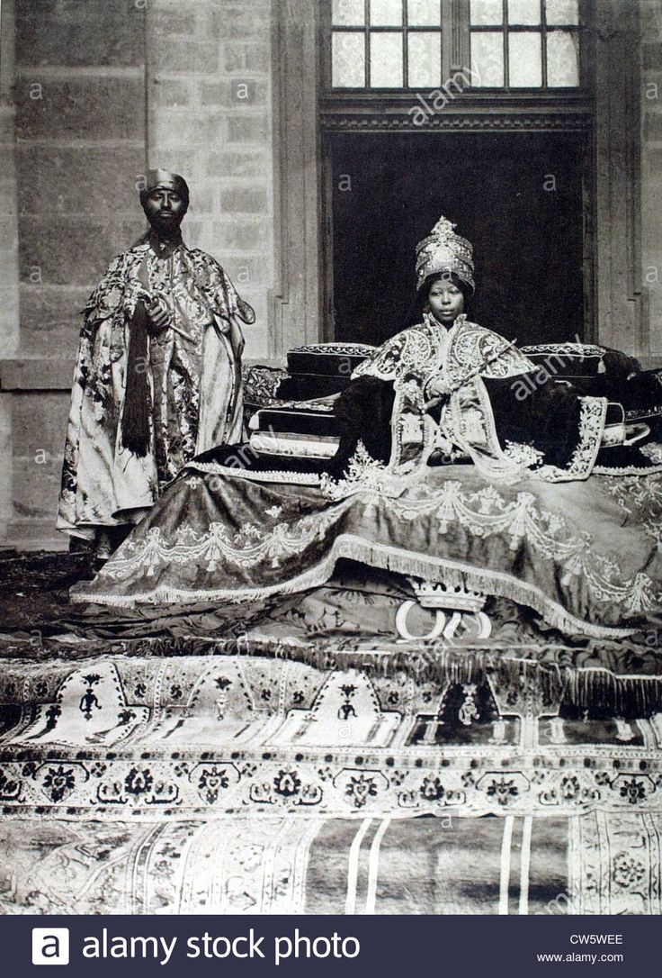 The new empress of Ethiopia Stock Photo African royalty