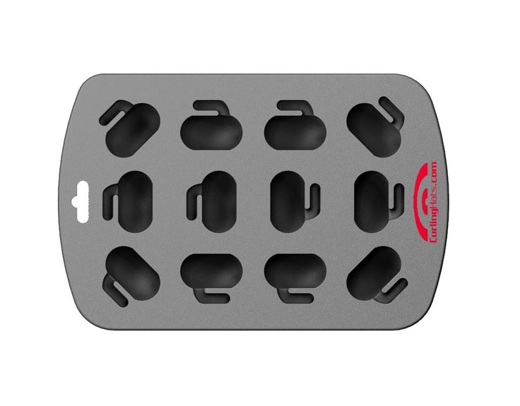 Curling stone ice cube tray