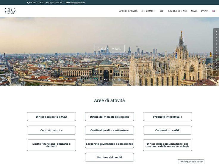 Web design del sito web GLGlex, presenza istituzionale dello studio legale GLG & Partners