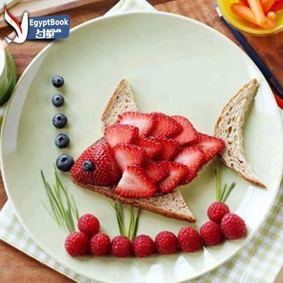 Berries in a shape of a fish