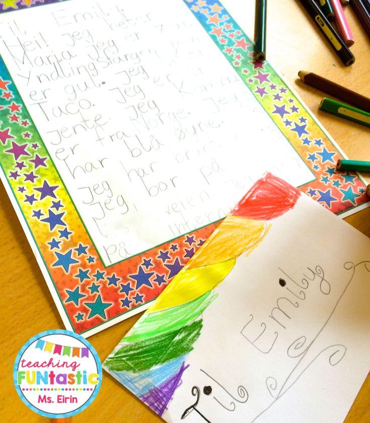 Uke 13 - PY 2: Klassen er i full gang med å skrive brev til sine nye brevvenner i 2B på Aronsløkka skole i Drammen!